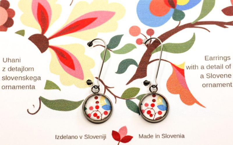 Uhani slovenski ornament Jože Karlovšek