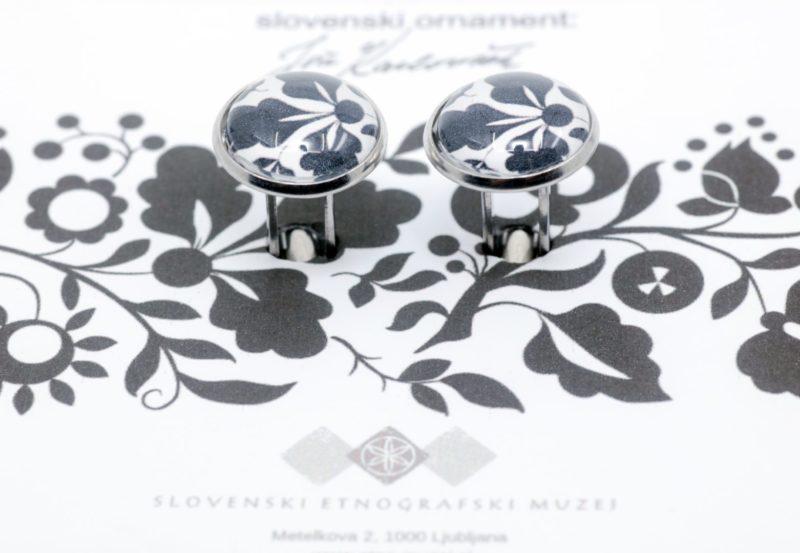 Manšetni gumbi kolekcije slovenski ornament Jože Karlovšek