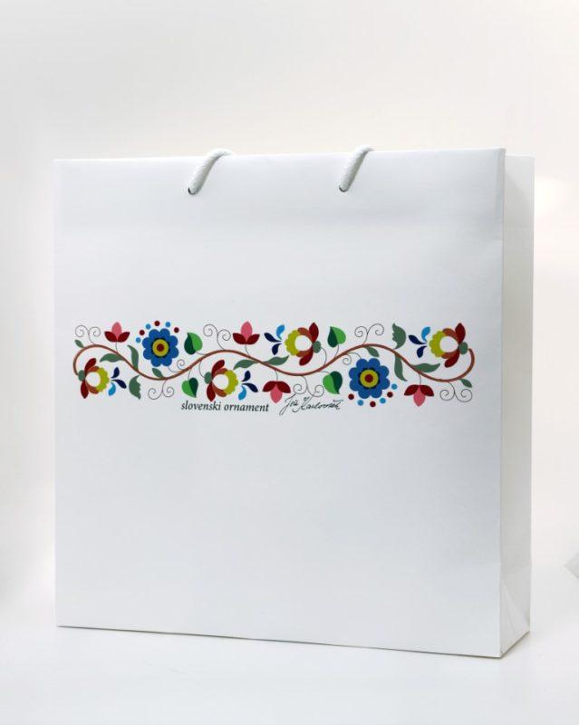 Velika darilna vrečka Slovenski ornament